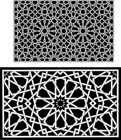 arabesque: Modello islamico ornamento Vettoriali