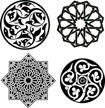 arabesque wallpaper: Modello islamico ornamento Vettoriali