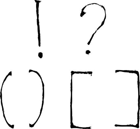 spattered: hand draw alphabet and symbols