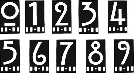 set of stylish numbers Vector