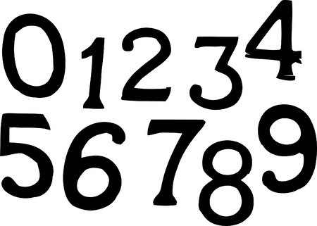 set of stylish numbers Stock Vector - 9406737