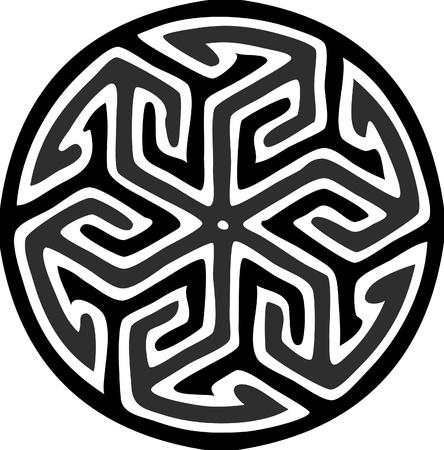 Voorraad van een ronde islamitische motief