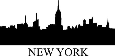 Stock of new york silhouette Vettoriali