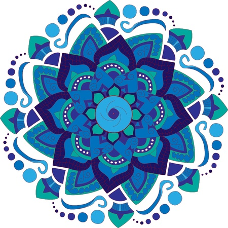 Colorful round mandala background