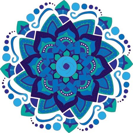 Kleurrijke Ronde mandala achtergrond