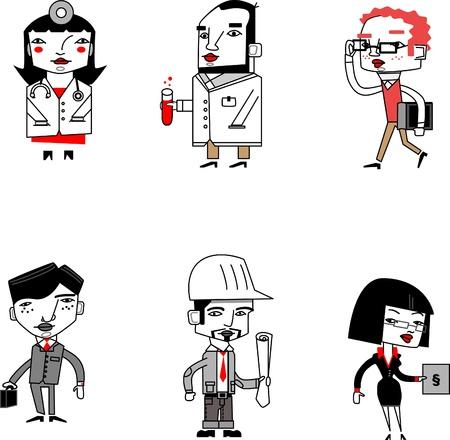 Jobs with cartoon style figures