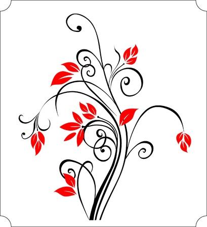 Ilustración floral curvas