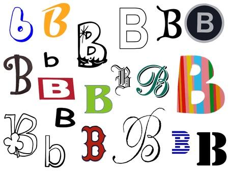 Diffetent stijl letters