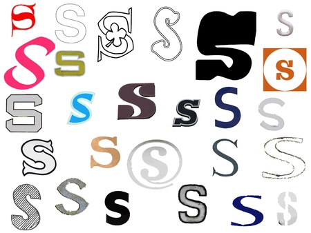 Diffetent style letters