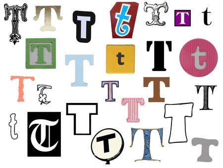 Diffetent style letters Vector