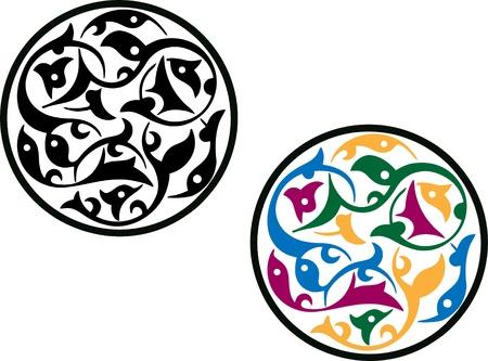 Round Islamic pattern