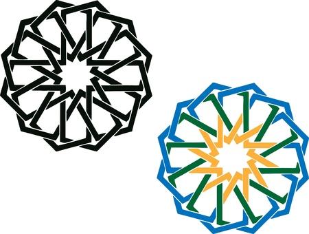 arabisch patroon: Rond islamitische patroon