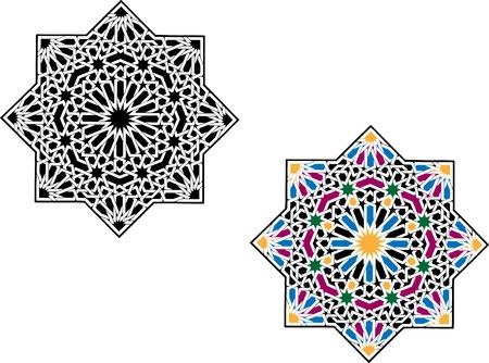 Islamitische patroon Stock Illustratie