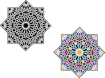 arabesque pattern: Patr�n isl�mico Vectores