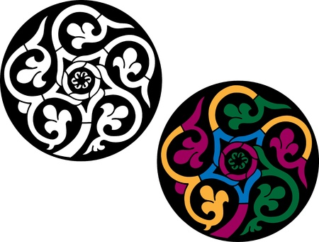 Round Islamic pattern Vector