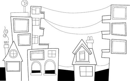 Doodle city Stock Vector - 11817937