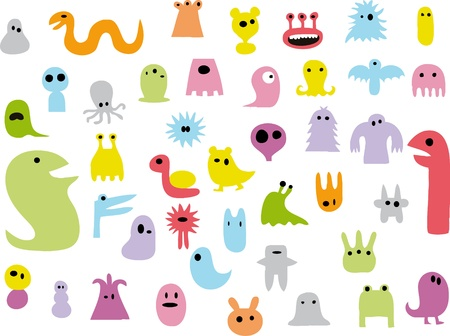 Doodle monsters Stock Vector - 11817938
