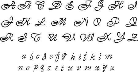 hand written: Fancy alphabet