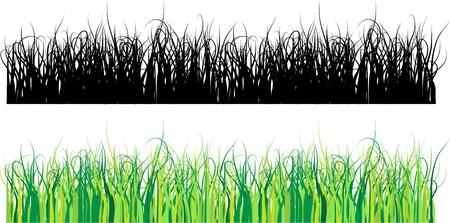 Grass silhouette pattern Vettoriali