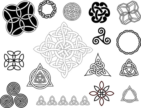 celtic culture: Celtic motifs Illustration