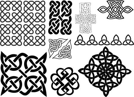 interlace: Celtic motifs Illustration