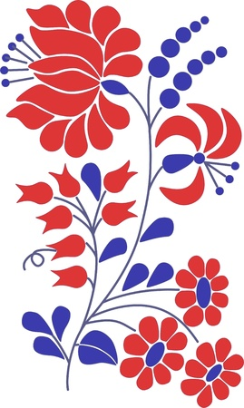 folk art: A colorful flourish motif Illustration