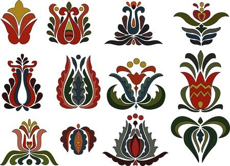 macar: Renkli çiçek motifleri