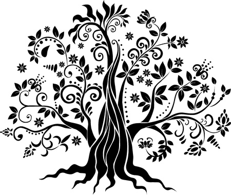 Fancy tree  art Vector