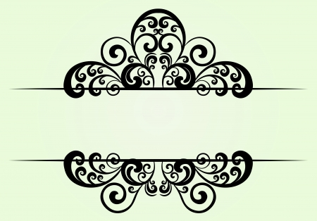 Royal floral ornament Vector