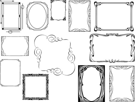 Set of art deco frames