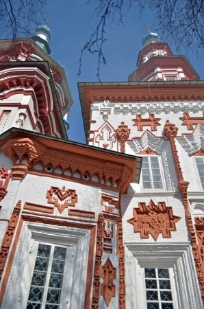 exaltation: Church of the Exaltation of the Holy Cross on the Jerusalemite barrow  Irkutsk Stock Photo