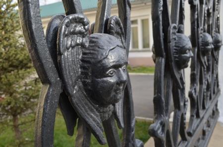 enclosure: The enclosure near the Church of God s Transfiguration  Irkutsk