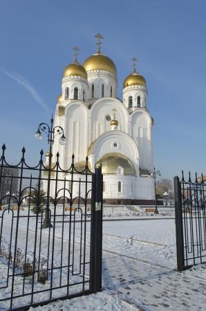sanctified: Church of the Nativity  Christmas Church  in the city of Krasnoyarsk
