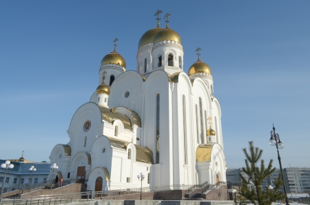 consecrated: Church of the Nativity  Christmas Church  in the city of Krasnoyarsk