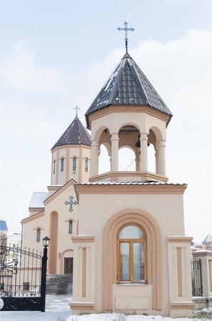 apostolic: The Bell Tower of Church of St  Sarkis - Armenian Apostolic Church  Krasnoyarsk