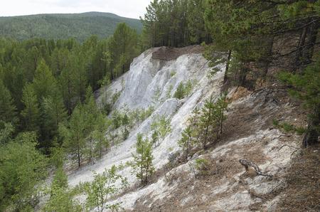 sand quarry: Abandoned quartz sand quarry