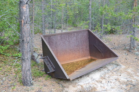 sand quarry: Abandoned quartz sand quarry.  Remains of jubilee wagons