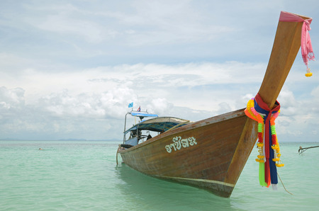 longtail: Thai longtail boat on the azure water