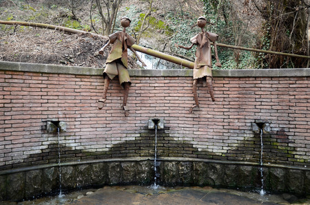 water spring: Sculpture on a water spring. Tbilisi