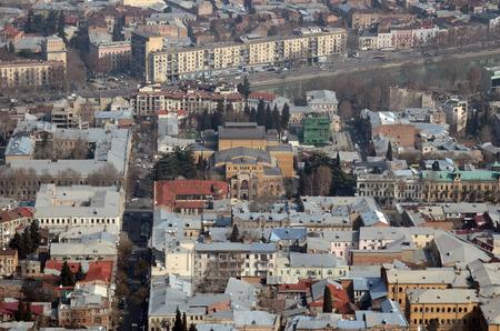 kuru: Top view of the Ketevan-Tsamebuli Avenue, Kuru and Rustaveli Avenue area