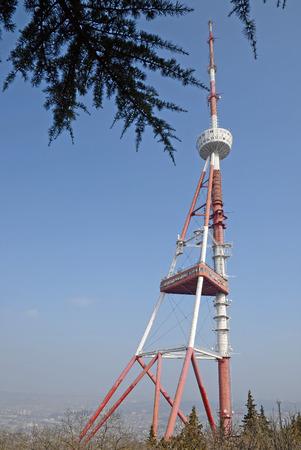 tv tower: Tbilisi TV tower on Mount Mtatsminda