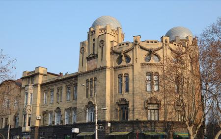 rustaveli: Stone house with domes on Rustaveli Avenue, Tbilisi