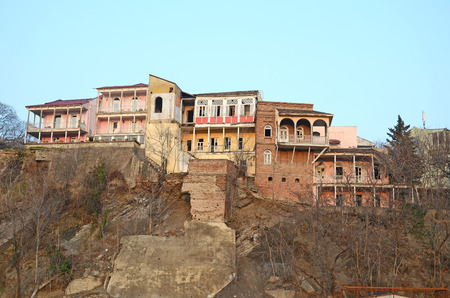 tbilisi: Old Tbilisi. Edifici residenziali in zona Avlabar