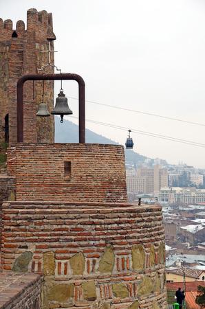 védekező: Narikala - Tbiliszi védelmi erőd. Téglafalak