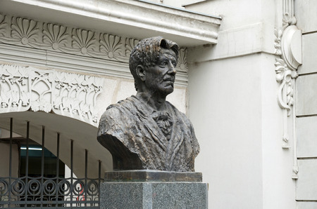 bust: The bust of Georgian theater founder Kote Marjanishvili. Tbilisi Editorial