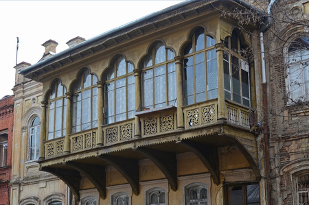 noteworthy: House with a traditional balcony in Tbilisi. Old city