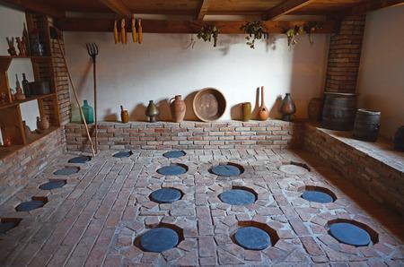 Traditional Georgian winery