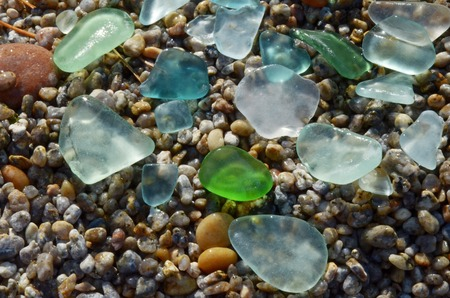 skillfully: Smooth colored glass treated by water of Lake Baikal for long time