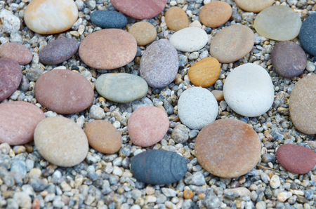skillfully: Colored smooth stones polished by Baikal Lake Stock Photo