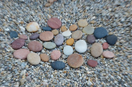 polished: Colored smooth stones polished by Baikal Lake Stock Photo